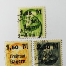 Sellos: BAVIERA AÑO 1920 YT 174A-175A Y 176A. Lote 195022592