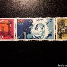 Sellos: ALEMANIA ORIENTAL DDR. YVERT 1037/8 (1039A). SERIE COMPLETA NUEVA ***. OBSERVATORIO ASTRONOMÍA.. Lote 195059846
