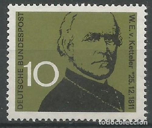ALEMANIA FEDERAL - 1961 - MICHEL Nº 374 - TEÓLOGO Y OBISPO W. E. V. KETTELER - NUEVO CON GOMA (Sellos - Extranjero - Europa - Alemania)