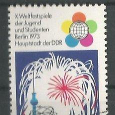 Sellos: ALEMANIA ORIENTAL - X.FESTIVAL MUNDIAL DE JUVENTUD Y ESTUDIANTES 1973 EN BERLIN - NUEVO CON ADHESIVO. Lote 195111250