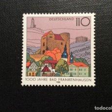 Sellos: ALEMANIA FEDERAL Nº YVERT 1810*** AÑO 1998. MILENARIO DE BAD FRANKENHAUSEN. Lote 195151967