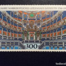 Sellos: ALEMANIA FEDERAL Nº YVERT 1815*** AÑO 1998. 250 ANIVERSARIO OPERA DE LOS MARGRAVES,DE BAYREUTH. Lote 195152492