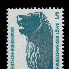 Sellos: ALEMANIA 1280** - AÑO 1990 - MONUMENTOS - LEON DE BRUNSWICK. Lote 195306975