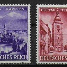 Sellos: ALEMANIA III REICH 1941 IVERT 730/3 *** ANEXIÓN DE ESLOVENIA DEL NORTE - PAISAJES Y MONUMENTOS. Lote 195318400