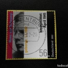 Sellos: ALEMANIA 2002. HANS VON DOHNANYI (1902-1945), RESISTANCE FIGHTER. MI:DE 2233, SN:DE 2145, YT:DE 2065. Lote 195332421
