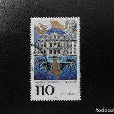 Sellos: ALEMANIA 1998. WÜRZBURG PALACE. MI:DE 2007, SN:DE 2012, YT:DE 1839,. Lote 195333815