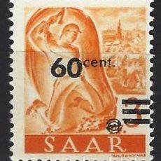 Sellos: SARRE 1947 - MINERO, SOBRECARGADO - SELLO NUEVO **. Lote 195424016
