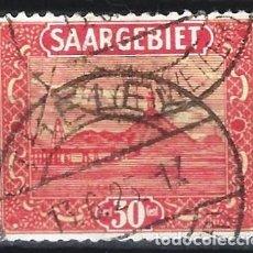 Sellos: SARRE / SAARGEBIET 1922 - PAISAJES - SELLO USADO. Lote 195425037
