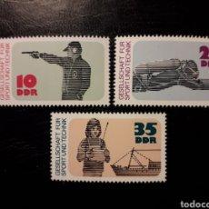 Sellos: ALEMANIA ORIENTAL DDR. YVERT 1897/9 SERIE COMPLETA NUEVA ***. DEPORTE Y TÉCNICA. TIRO. SUBMARINISMO.. Lote 195443317