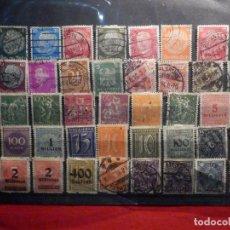 Sellos: LOTE 45 SELLOS ALEMANIA - DEUTCHE REICH - DESDE 1889 - USADOS EN FICHA. Lote 195445732