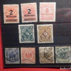 Sellos: LOTE 9 SELLOS ALEMANIA - DEUTCHE REICH Y 4 DE 1889 - USADOS Y NUEVOS EN FICHA . Lote 195446197