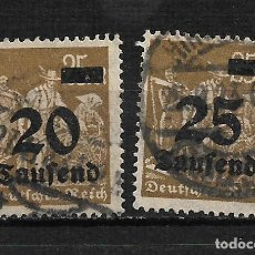 Sellos: ALEMANIA REICH 1923 USADO - 15/35. Lote 195653361