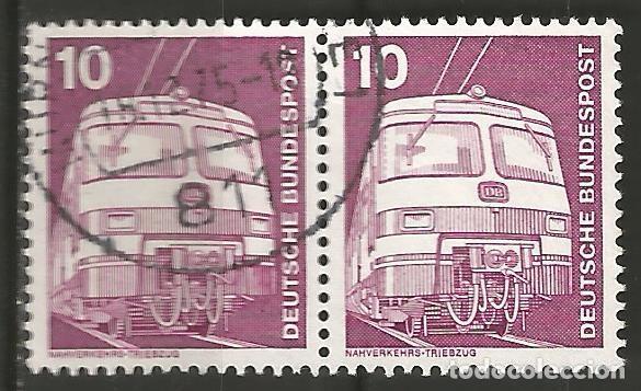 Sellos: ALEMANIA - FEDERAL - 1975 - 76 - SERIE TÉCNICA 10 - 70 PFG, 6 PAREJAS UTILIZADAS JUNTAS - Foto 4 - 195656586