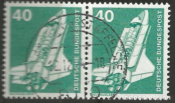 Sellos: ALEMANIA - FEDERAL - 1975 - 76 - SERIE TÉCNICA 10 - 70 PFG, 6 PAREJAS UTILIZADAS JUNTAS - Foto 7 - 195656586
