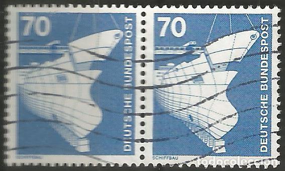 Sellos: ALEMANIA - FEDERAL - 1975 - 76 - SERIE TÉCNICA 10 - 70 PFG, 6 PAREJAS UTILIZADAS JUNTAS - Foto 9 - 195656586