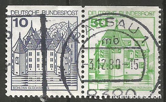 ALEMANIA - FEDERAL - 1978 - 80 - SERIE CASAS - 2 SELLOS DIFERENTES JUNTOS DE UN CARNET (Sellos - Extranjero - Europa - Alemania)