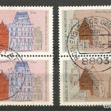 Francobolli: ALEMANIA - FEDERAL - 1975 - AÑO EUROPEO DE PROTECCIÓN DE MONUMENTOS - 2 PAREJAS JUNTOS. Lote 195725695