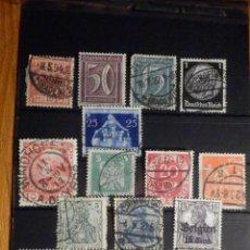 Sellos: BONITA COLECCIÓN -LOTE 15 SELLOS ANTIGUOS DE ALEMANIA - MONTADOS EN FICHA - USADOS. Lote 195793888