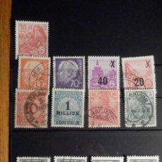 Sellos: BONITA COLECCIÓN -LOTE 12 SELLOS ANTIGUOS DE ALEMANIA - MONTADOS EN FICHA - USADOS. Lote 195793901