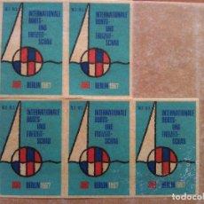 Sellos: BERLÍN 1967 - INTERATIONALE BOOTS- UND FREIZEIT - SCHAU. Lote 196033947