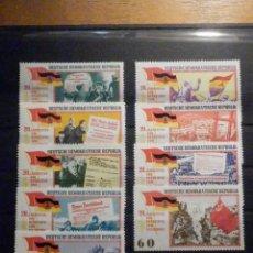 Sellos: LOTE - COLECCIÓN - 9 SELLOS - DDR - REÚBLICA DEMOCRÁTICA DE ALEMANIA - AÑOS 60´S - NUEVOS. Lote 196140291