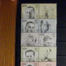 Sellos: LOTE - COLECCIÓN - 5 SELLOS - DDR - REÚBLICA DEMOCRÁTICA DE ALEMANIA - AÑOS 60´S - NUEVOS. Lote 196140350