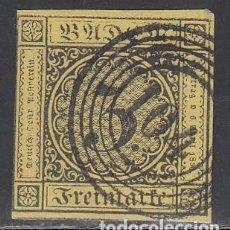 Sellos: BADEN, 1851 YVERT Nº 2, MATASELLOS NUMERAL 131. Lote 196294685