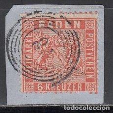 Sellos: BADEN, 1862 YVERT Nº 11 A, NARANJA,. Lote 196297063