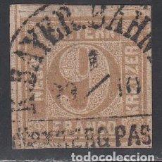 Sellos: BAVIERA, 1862 YVERT Nº 12, MATASELLOS FECHADOR SEMICIRCULAR . Lote 196298472