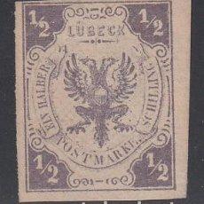 Sellos: LUBECK. 1862 YVERT Nº 6 (*). Lote 196307978