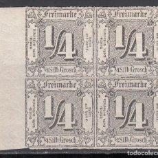 Sellos: TOUR ET TAXIS, 1865 YVERT Nº 20 /*/ BLOQUE DE CUATRO . Lote 196312226
