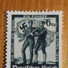 Sellos: SELLO ALEMANIA TERCER DEUTCHE REICH - HITLER - NACIONAL SOCIALISMO ALEMÁN - 1938 - IVERT 606 . Lote 196378602