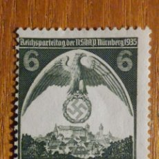 Sellos: SELLOS ALEMANIA TERCER DEUTCHE REICH - HITLER - NACIONAL SOCIALISMO ALEMÁN, 1935 - IVERT 545. Lote 196380153