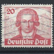 Sellos: ALLEMAGNE BERLIN N°51/53 OBL (FU) 1949 - JOHANN WOLFGANG GOETHE. Lote 197022546