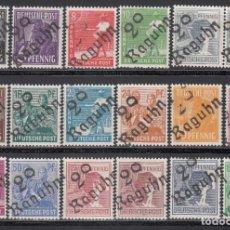 Sellos: ZONA SOVIÉTICA, OCUPACIÓN ALIADA, DISTRITO,*29 RAGUHN* 1948 MICHEL Nº 166VIB / 181VIB, 179VIB, /**/ . Lote 197161130