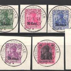Sellos: OCUPACIÓN ALEMANA, BELGICA, 1916-17 YVERT Nº 26, 27, 29, 31, 32, 33, 34, 35, 36, . Lote 197364177