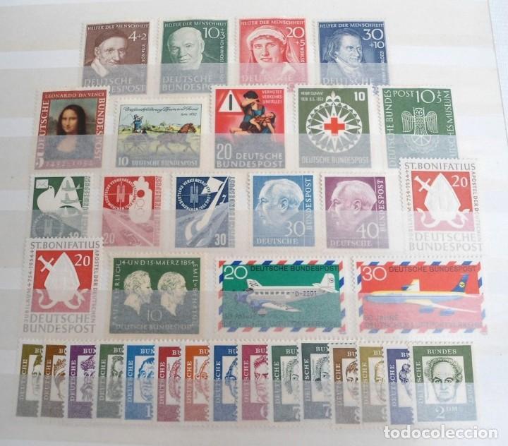 ALEMANIA FEDERAL AÑO 1951-54 - LOTE DE SELLOS Y SERIES - CON FIJASELLOS (Sellos - Extranjero - Europa - Alemania)