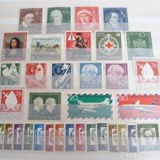 Sellos: ALEMANIA FEDERAL AÑO 1951-54 - LOTE DE SELLOS Y SERIES - CON FIJASELLOS. Lote 197448946