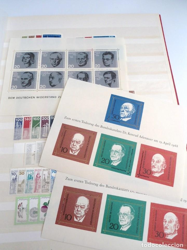 Sellos: ALEMANIA FEDERAL AÑO 1963-77 - 11 SERIES COMPLETAS + 3 HOJAS BLOQUE HB - SIN FIJASELLOS - Foto 4 - 197450998