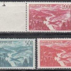 Sellos: SARRE, AÉREO 1948 YVERT Nº 9 / 11 /**/, SIN FIJASELLOS . Lote 197478096