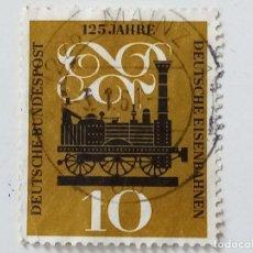 Sellos: ALEMANIA 1960 125 ANIVERSARIO DE LOS FERROCARRILES ALEMANES. . Lote 198306876