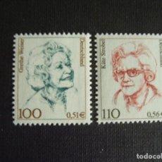 Sellos: ALEMANIA FEDERAL Nº YVERT 1981/2*** AÑO 2000. MUJERES CELEBRES., G.WEISER Y K. STROBEL. Lote 198341671