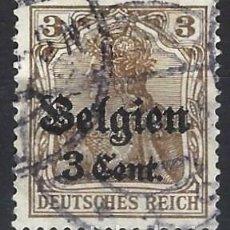 Selos: ALEMANIA 1916 - OCUPACIÓN DE BÉLGICA - IMPERIO SOBREIMPRESO Y SOBRECARGADO - SELLO USADO. Lote 198587133