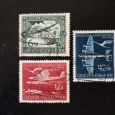 Sellos: ALEMANIA IMPERIO. YVERT A-59/60 SERIE COMPLETA USADA. AVIONES. AVIACIÓN. SERVICIO POSTAL AÉREO.. Lote 199190768