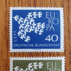 Sellos: ALEMANIA TEMA EUROPA 1959 MNH (FOTOGRAFÍA REAL). Lote 263223410