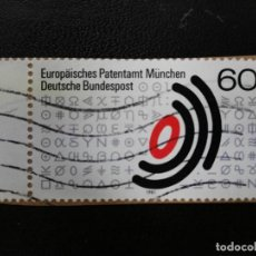 Sellos: ALEMANIA,1981. EUROPEAN PATENT OFFICE EMBLEM AND SCIENTIFIC SIGNS. YT:DE 920, (351). Lote 199672392