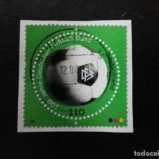 Sellos: ALEMANIA, 2000. FOOTBALL WITH DFB EMBLEM. YT:DE 1922, (354). Lote 199673727