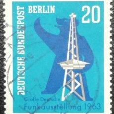 Timbres: 1963. BERLÍN-ALEMANIA. 209. EXPOSICIÓN NACIONAL DE LA RADIODIFUSIÓN. SERIE COMPLETA. USADO.. Lote 200040272