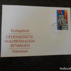 Sellos: ALEMANIA-DDR-SOBRE CONMEMORATIVO CON 1 SELLO. Lote 203272170