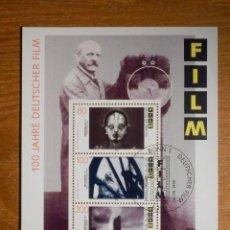 Selos: HOJITA - 100 AÑOS FILMS ALEMANES SELLO- 6-SEPTIEMBRE-1995 - ALEMANIA -. Lote 204101890